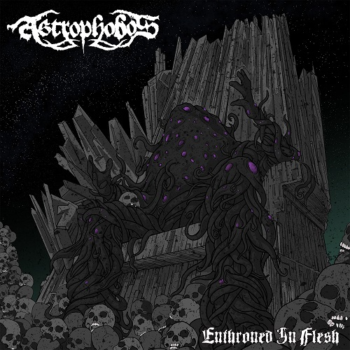 Astrophobos - Enthroned In Flesh (EP) - Cover