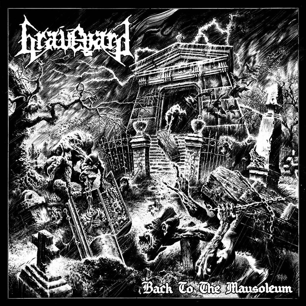 Graveyard (ESP) - Back To The Mausoleum (EP) - Cover
