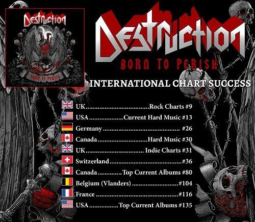 """Die Chart-Platzierungen des Destruction-Albums """"Born To Perish"""""""