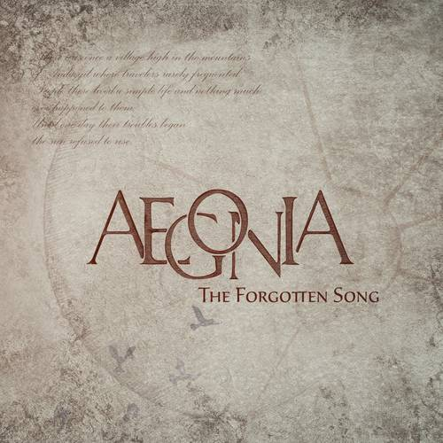 Aegonia - The Forgotten Song - Cover