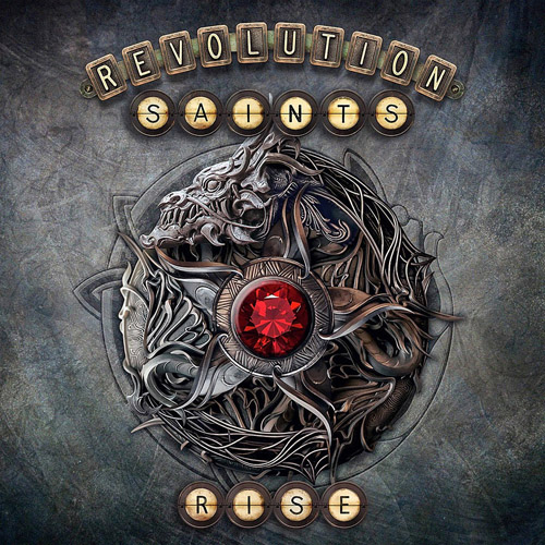 "Das Cover des Revolution-Saints-Albums ""Rise"""