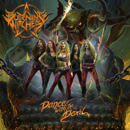 "Das Cover von ""Dance With The Devil"" von Burning Witches"