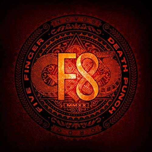 "Das Cover des Albums ""F8"" von Five Finger Death Punch"