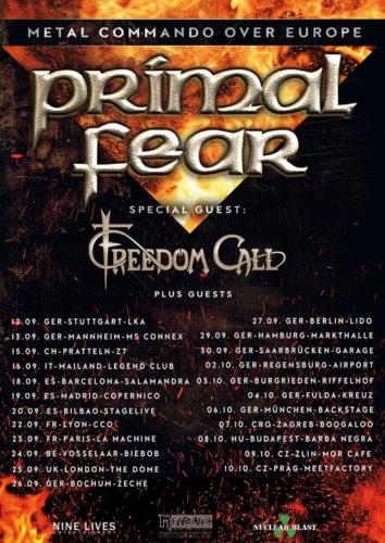 Die 2020er Tourdaten von Primal Fear und Freedom Call