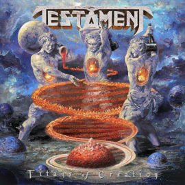 """Das Cover von """"Titans Of Creation"""" von Testamment."""