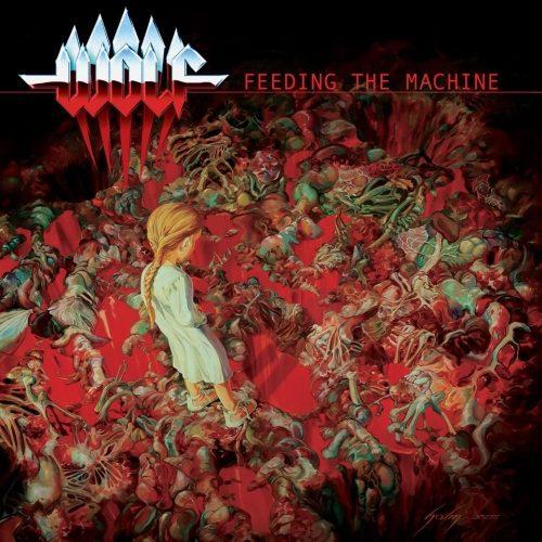 """Das Cover von """"Feeding The Machine"""" von Wolf."""