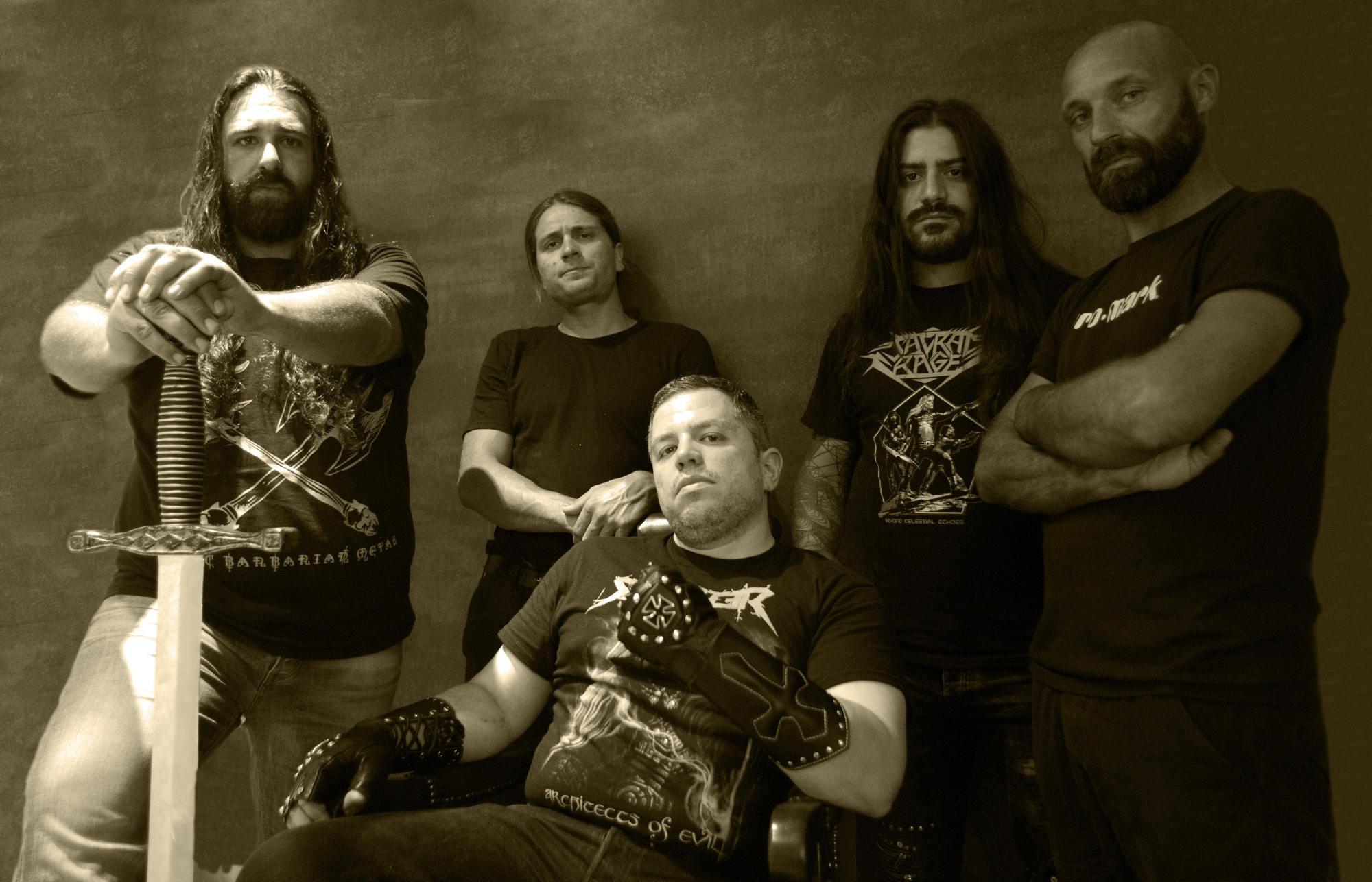 Ein Foto der Heavy-Metal-Band Solitary Sabred