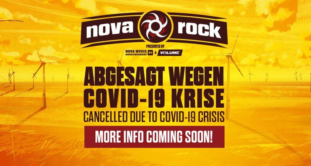 Das Nova Rock Festival 2020 in Österreich ist abgesagt