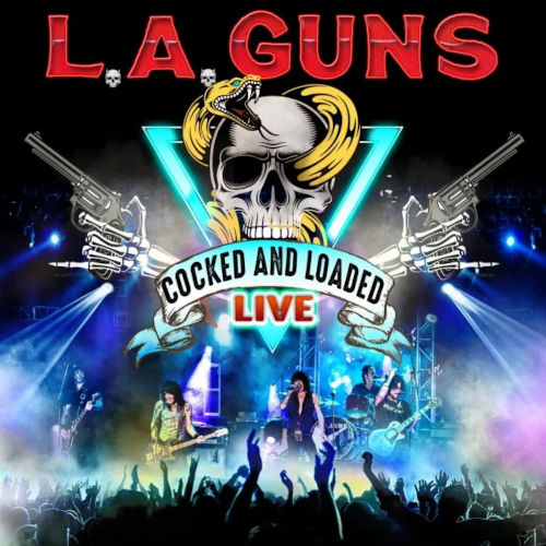 "Das Cover von ""Cocked And Loaded Live"" von L.A. Guns"