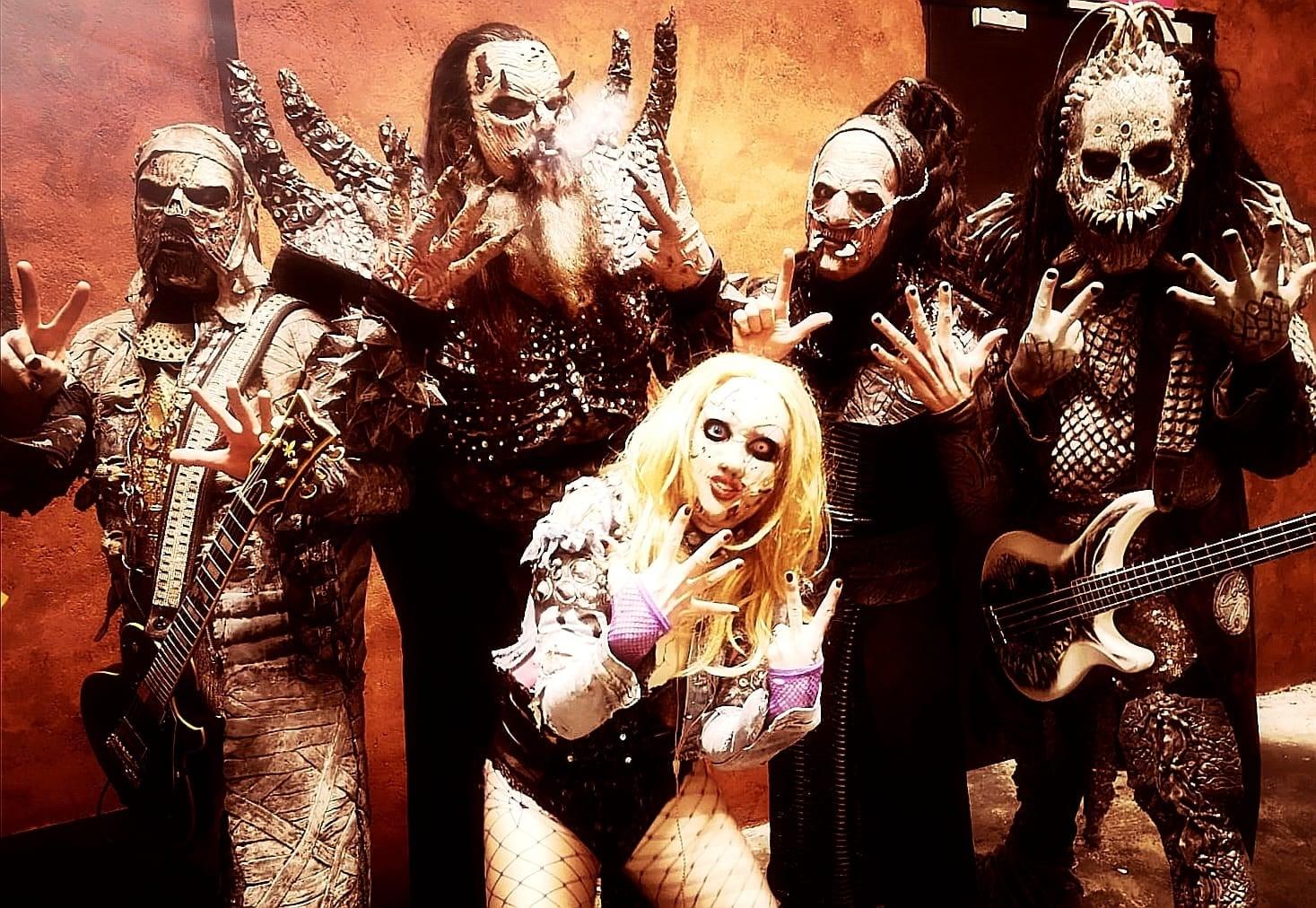 Ein Foto der finnischen metal-Band Lordi