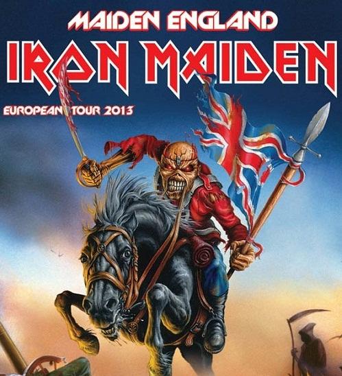 iron maiden - maiden england flyer