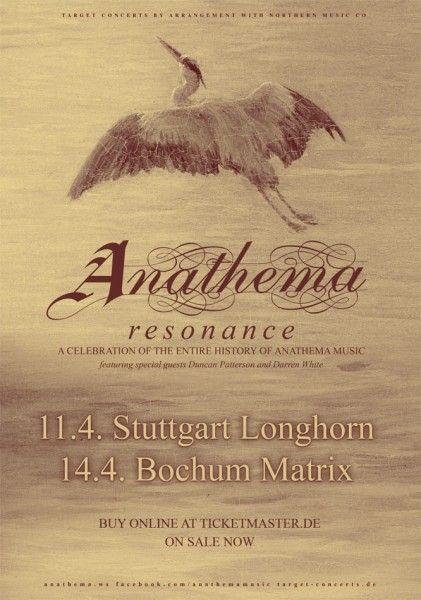 Anathema Resonance Tourplakat