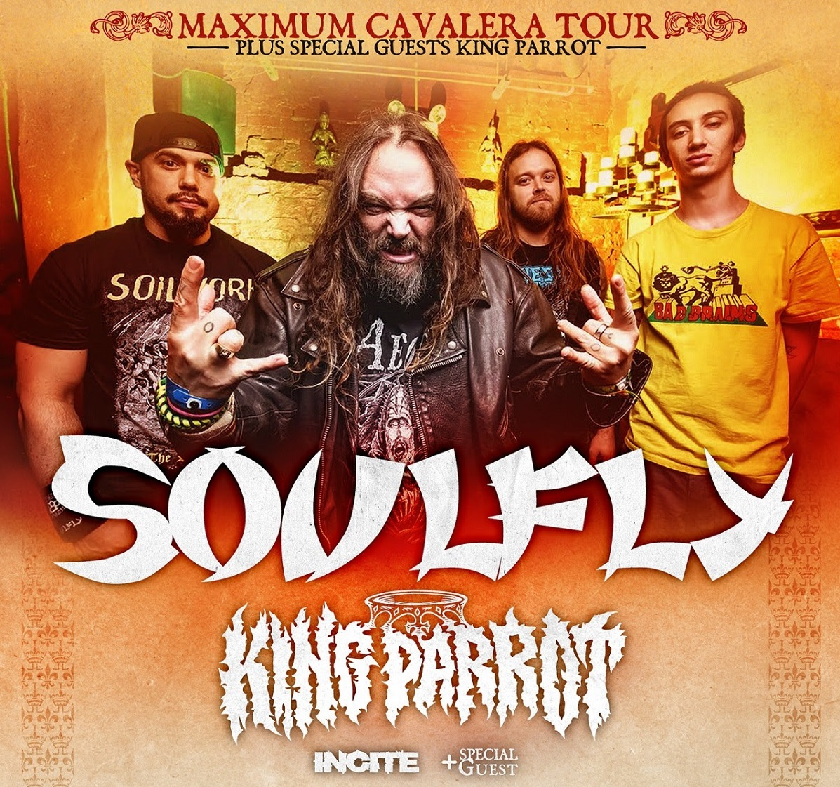 Soulfly king parrot 2016 tour