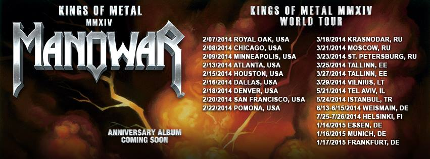MANOWAR Kings Of Metal MMXIV Tour