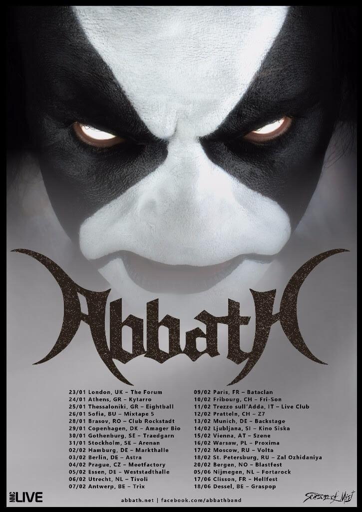 Abbath Behemoth Tour