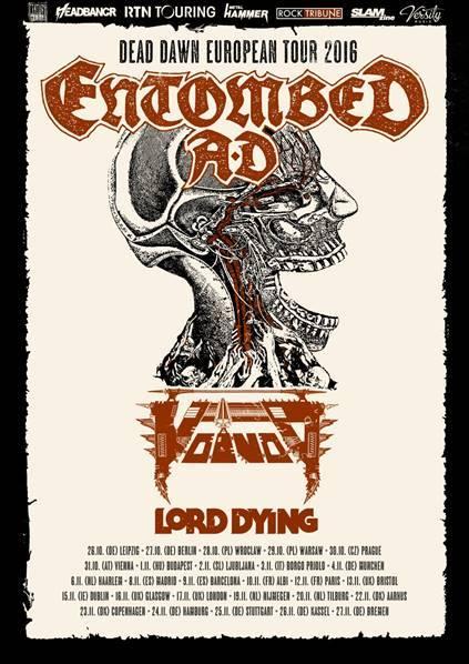 entombed ad dead dawn tour 2016