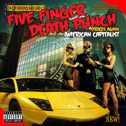 Five Finger Death Punch - American Capitalist - Cover